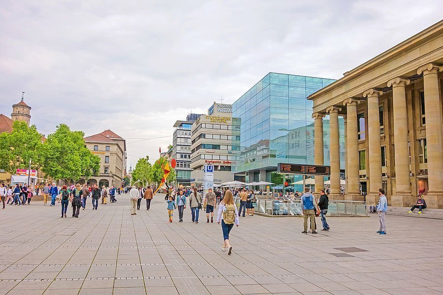 Day trip to the state capital Stuttgart